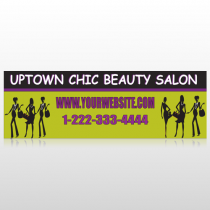 Uptown Salon 642 Custom Sign