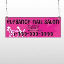 Elegant Nails 643 Window Sign
