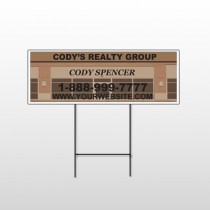 Brown Building Space 862 Wire Frame Sign