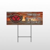 Fire 432 Wire Frame Sign