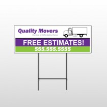 Moving Truck 293 Wire Frame Sign