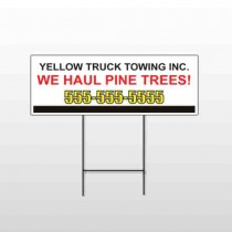 Towing 300 Wire Frame Sign