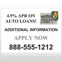 Auto Loan 155 Custom Sign