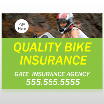 Bike Insurance 110 Custom Sign