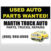 Black & Yellow Truck 326 Custom Sign
