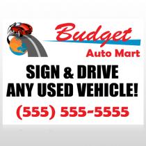 Budget Auto Mart 116 Custom Decal