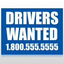 Drivers Wanted 314 Site Sign