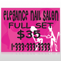 Elegant Nails 643 Custom Sign