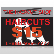 Haircut Scissors 644 Custom Sign