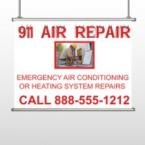 AC Repair 251 Hanging Banner