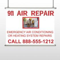 AC Repair 251 Hanging Banner