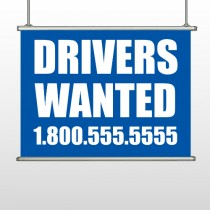 Drivers Wanted 314 Hanging Banner