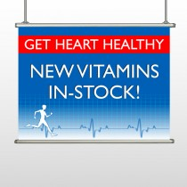 Heart Healthy 140 Hanging Banner