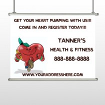 Running Heart 401 Hanging Banner