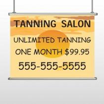 Tanning Sun 296 Hanging Banner