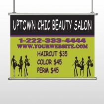 Uptown Salon 642 Hanging Banner