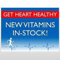 Heart Healthy 140 Custom Sign