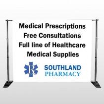 Pharmacy 335 Pocket Banner Stand