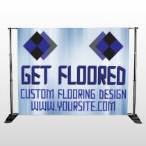 Blue Checker 249 Pocket Banner Stand
