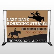 Boarding Stables 304 Pocket Banner Stand