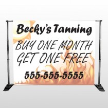 Flaming Sun Tan 298 Pocket Banner Stand