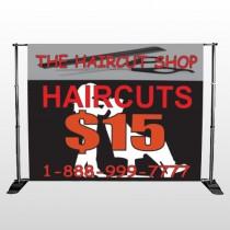 Haircut Scissor 644 Pocket Banner Stand