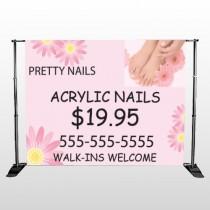 Nail Salon 291 Pocket Banner Stand