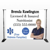 Nutrititionist 46 Pocket Banner Stand