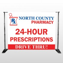 Pharmacy 333 Pocket Banner Stand