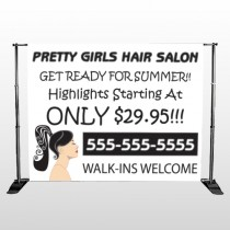 Pretty Girl Hair 290 Pocket Banner Stand