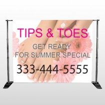 Tips And Toes 488 Pocket Banner Stand