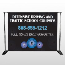 Traffic School 152 Pocket Banner Stand Templatae