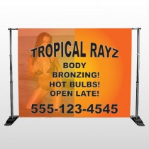 Tropical Rayz Tan 490 Pocket Banner Stand