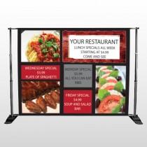 Restaurant Specials 370 Pocket Banner Stand