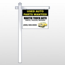 "Black & Yellow Truck 326 18""H x 24""W Swing Arm Sign"