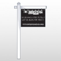 "Blog Line 430 18""H x 24""W Swing Arm Sign"