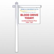 "Blood Drive 330 18""H x 24""W Swing Arm Sign"