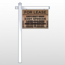 "Brown Building Space 862 18""H x 24""W Swing Arm Sign"