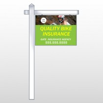 "Bike Insurance 110 18""H x 24""W Swing Arm Sign"