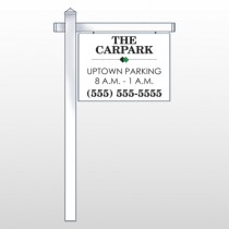 "Car Park 122 18""H x 24""W Swing Arm Sign"