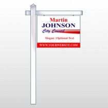 "City Council 310 18""H x 24""W Swing Arm Sign"
