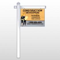 "Contractors 645 18"" x 24"" Site Sign"