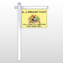 "DJ Crank Night 369 18""H x 24""W Swing Arm Sign"