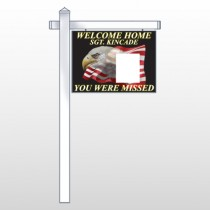 "Eagle Flag 307 18""H x 24""W Swing Arm Sign"