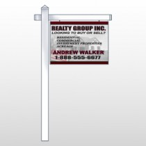 "Faded Open House 865 18""H x 24""W Swing Arm Sign"