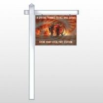 "Fire 432 18""H x 24""W Swing Arm Sign"