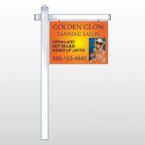 "Golden Glow 491 18""H x 24""W Swing Arm Sign"
