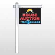 "Auction Left Arrow 728 18""H x 24""W Swing Arm Sign"