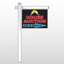 "Auction Right Arrow 729 18""H x 24""W Swing Arm Sign"