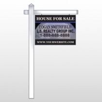 "House Snow Globe 852 18""H x 24""W Swing Arm Sign"